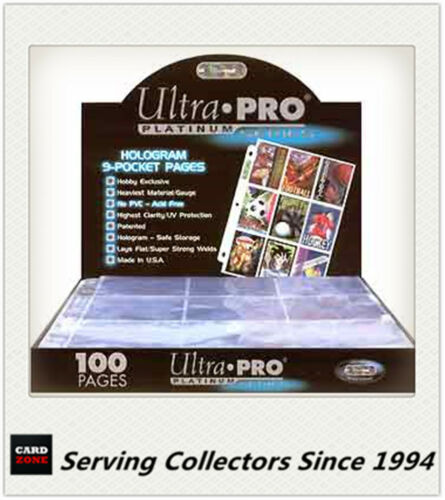 Best For AFL Cards Ultra Pro Platinum 9 Pocket Pages x 15 Pages BRAND NEW