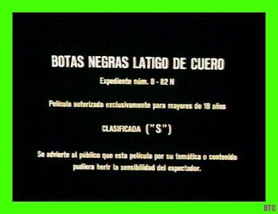 Botas Negras Latigo De Cuero Black Boots Leather Whips Rare Jess Franco Film Ebay