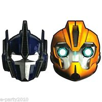 Transformers Paper Masks (8) Birthday Party Supplies Bumblebee Costume Favors