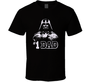 d73136b54 1 Dad Number One Darth Vader Cool Father's Day Gift Star Wars Joke ...