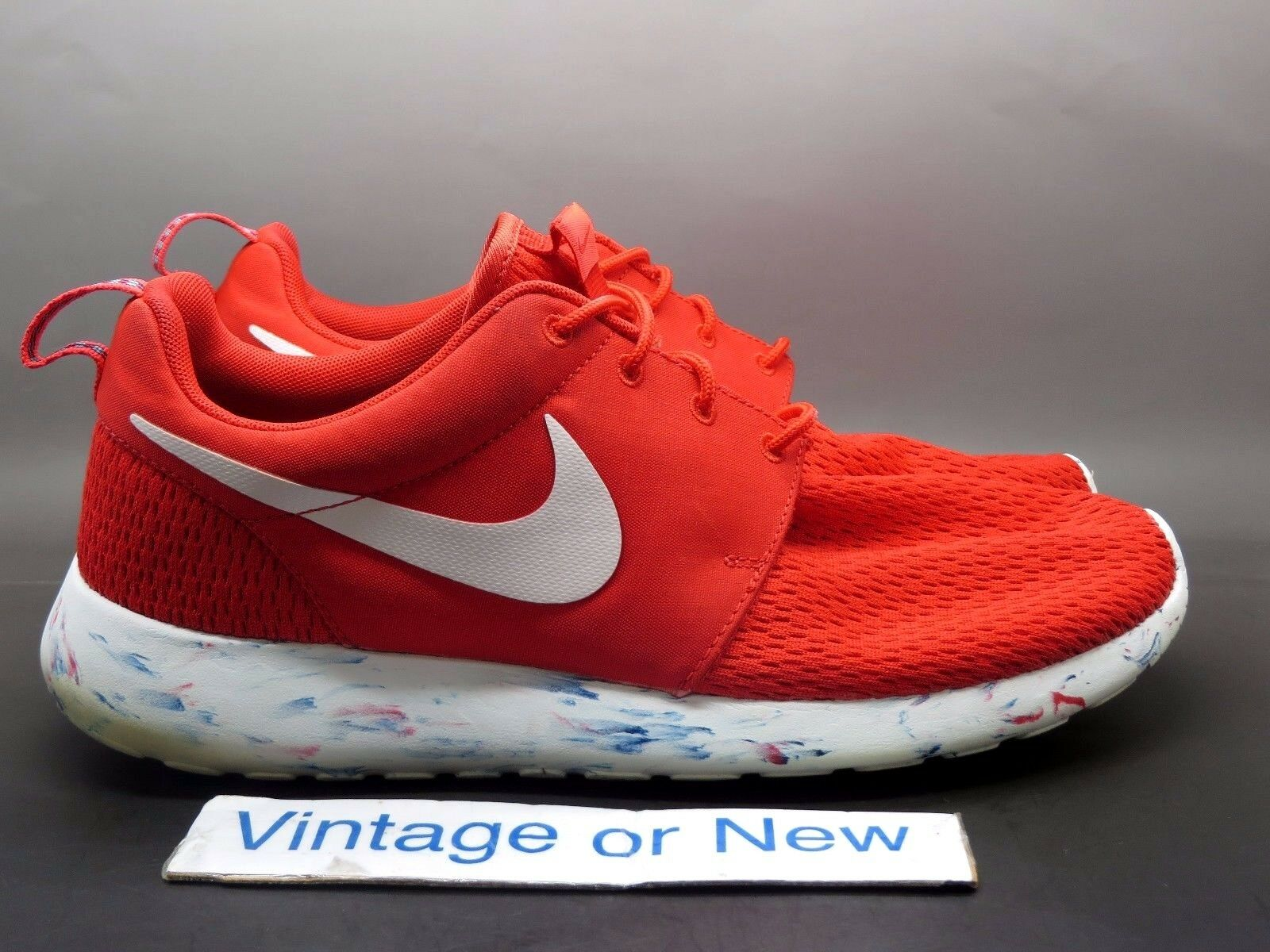 cheaper 6ea5a 221f8 Men s Nike Roshe Roshe Roshe Run Marble Challenge Red Running Shoes  669985-600 sz 9 b8c4b6