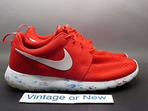 f3a630c79c55 Men s Nike Roshe Run Marble Challenge Red Running Shoes 669985-600 ...