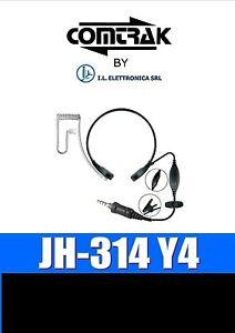 JH-314 Y4 Micrófono Guturales Y Auriculares Neumático Compatible Yaesu 333011