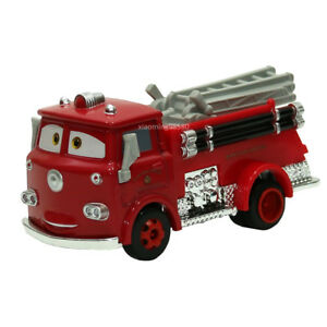 Mattel-Disney-Pixar-Cars-3-Red-Firetruck-1-55-Metal-Diecast-Toy-Car-Loose-New