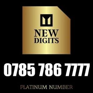 Gold Business Easy Memorable Uk Mobile Phone Number Sim Card 786 7777 Ebay
