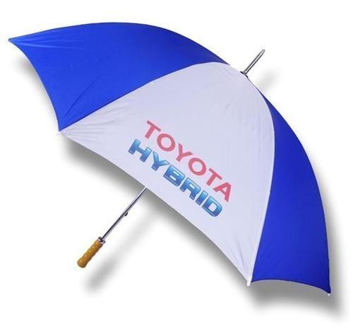 Genuine Toyota Hybrid Royal Blue/&White Umbrella With Wooden Handle GBNGAFBTM300