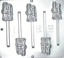 Bride & Groom Pop Lollipop Chocolate Candy Mold Wedding  679 NEW