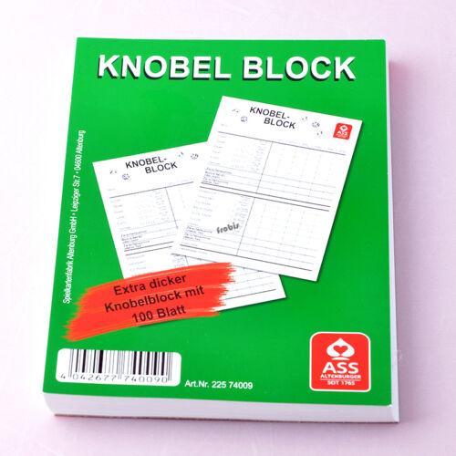 4 blocchi Knobel per 100 fogli in DIN a6 riquadro scrittura aufschreibblock di Frobis