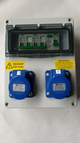 Marine Hook Up Camping RCD Caravan double pole MCB/'s 240V distribution board