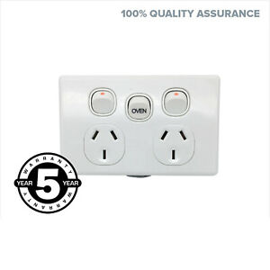 35-AMP-DGPO-Slim-With-Oven-Switch-Extra-Mech-Slimline-Power-Point-Socket-Outlet