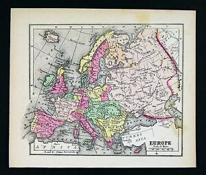 1857-Morse-Map-Europe-Spain-France-Italy-Germany-Britain-Russia-Austria
