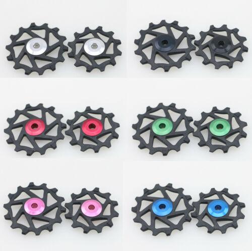 J/&L 12T/&14T Ceramic Derailleur Pulley//Jockey Fit Shimano XTR M9000,M980 XT M8000