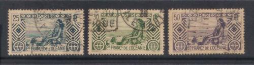 UXWW033 FRENCH OCEANIC SETTLEMENTS 193439 Tahitian Girl used stamps