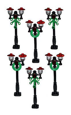 Lego City//Town//Village Black STREET LIGHT Lamp Post X 6 ☀️NEW NEW Victorian