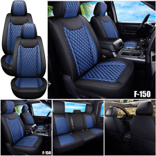Premium Pu Leather Car Seat Cover Full Set Fit For Ford F 150 Crew Cab 2009 2021
