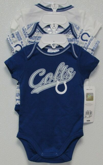 e33f25d0 Indianapolis Colts Baby Infant Blue Bodysuit Creeper NFL Team Apparel 6-12  Months