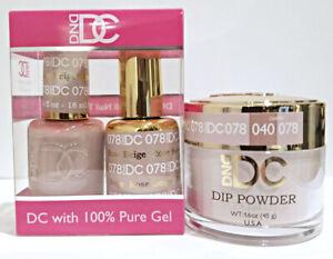 DND DC Gel Dip Powder Rose Beige 078 Dipping Powder Gel Lacquer 3in1   eBay
