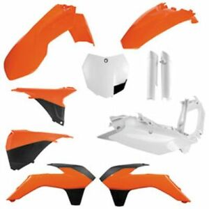 Fits KTM 450 XC-F 2013-2014 Acerbis Lower Fork Cover Set White