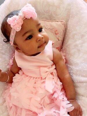 Christening Girl Baby Headband Hair band Chiffon Rose Bow Wedding Lace Flower