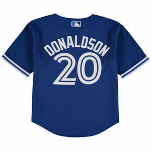 new arrival b17a6 7727d Toronto Blue Jays Child Small Age 4 Jersey Cool Base Josh ...