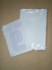 White short sleeve T shirt with Match of the day Transfer to apply. New