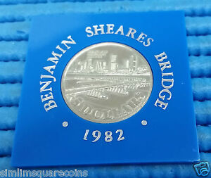 1982-Singapore-Benjamin-Sheares-Bridge-Commemorative-5-Cupro-Nickel-Coin