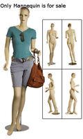 Retails Fiberglass Full Body Female Mannequin With Molded Hair 6