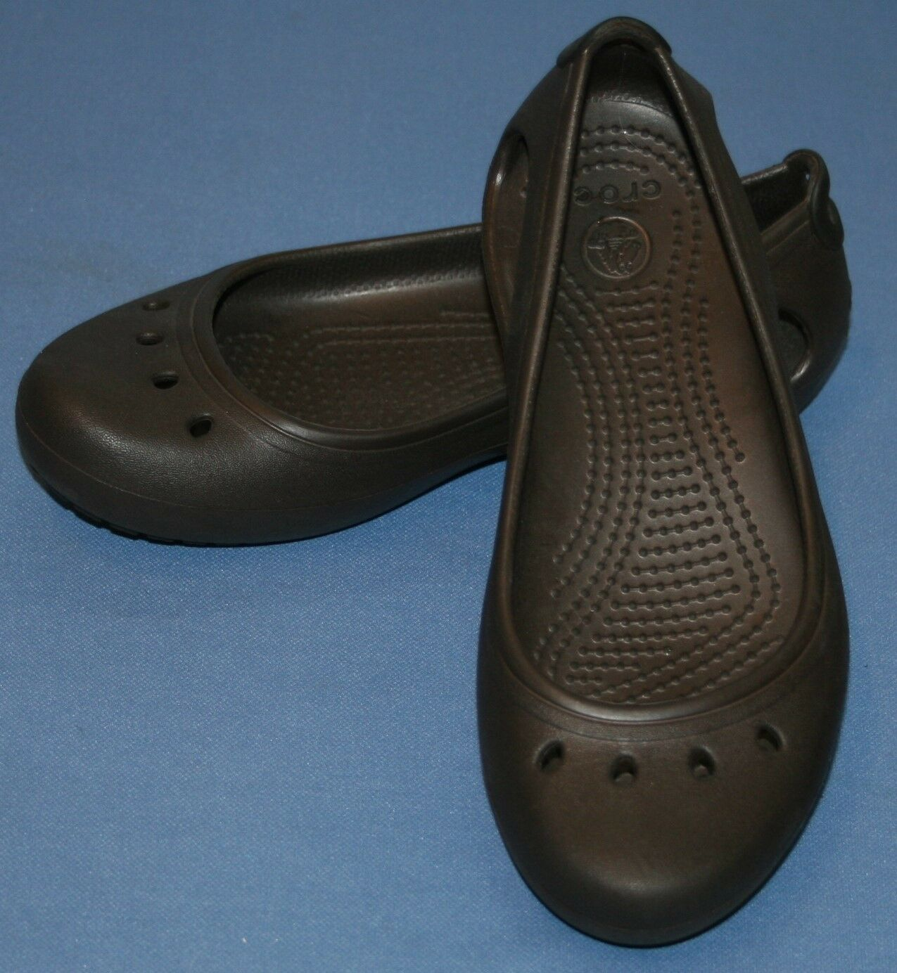 Crocs Brown Mary Jane Style Sz 5 Sandals Womens Slides Shoes Water Sandals 5 5eb849