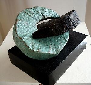 Bronze-Lost-Wax-Cast-Abstract-Unique-034-Couple-034-Rafael-Petrosyan-Sculpture