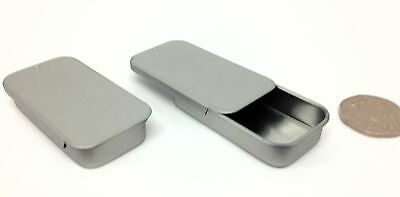 12 x 10ml Empty Metal rectangle slider Tin/Pot  - Lip balms / Cosmetics / crafts