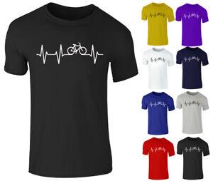 Nouveau-Homme-Unisexe-Velo-Amant-Velo-PULSE-Cycling-PASSION-T-Shirt-Top-Tee-S-XXL