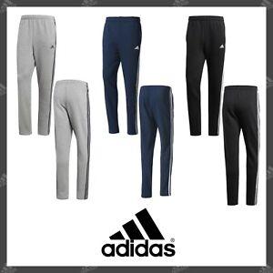 Details about Original ADIDAS Essentials Pants Men's Athletics 3 Stripes Tapered Trousers