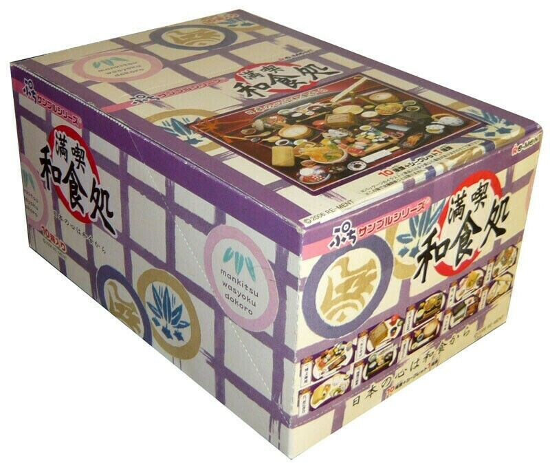Rare 2006 Brand New Re-ment Rement Enjoy Japanese Food Full Set of 10 Pieces
