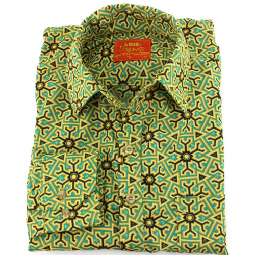Astratto Fit Retro Aztec Party Psychedelic Shirt Funky Tailored Loud Mens 0z8vxwa