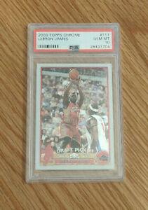 2003-04-Topps-Chrome-111-LEBRON-JAMES-RC-Rookie-Basketball-Card-PSA-10-GEM-MT