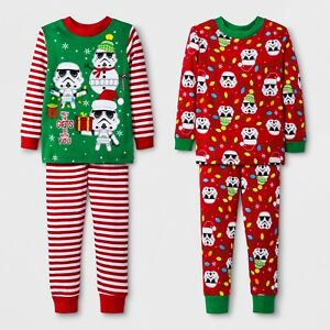 Toddler Boy Christmas Pajamas.Details About Toddler Boys 4 Pc 2 Pair Star Wars Gifts Be W You Holiday Christmas Pajamas Set