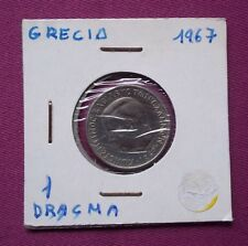 MONEDAS DEL MUNDO GRECIA 1967 1 Dracma