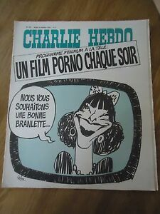 CHARLIE HEBDO N°204 PORNO TELE PRESENTATRICE CABU WOLINSKI 14 oct ...