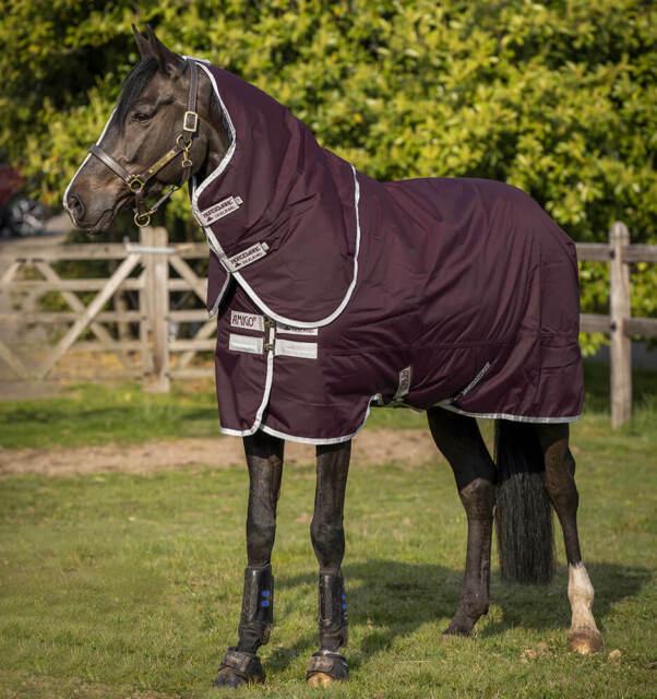 Horseware Amigo Hero Ripstop Plus Lite 0g Fig//Navy /& Tan