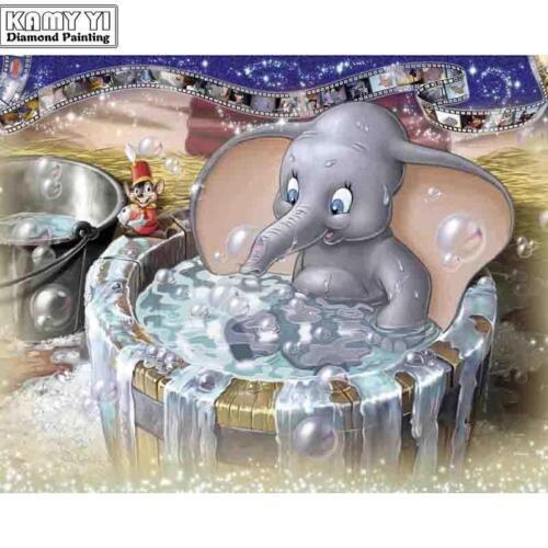 5D Diamond Painting Bath Time for Dumbo Kit