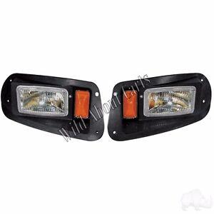 Golf cart rhox adjustable headlights with bezels halogen for image is loading golf cart rhox adjustable headlights with bezels halogen sciox Gallery
