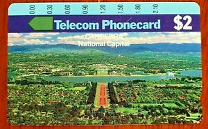 TELSTRA TELECOM $2 PHONECARD CANBERRA NATIONAL CAPITAL UNUSED MINT CONDITION!