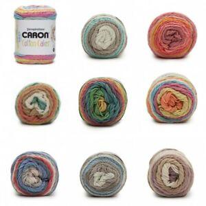 Caron-Cotton-Cakes-Aran-Yarn-Knitting-Crochet-Crafts-100g-Ball-Wool