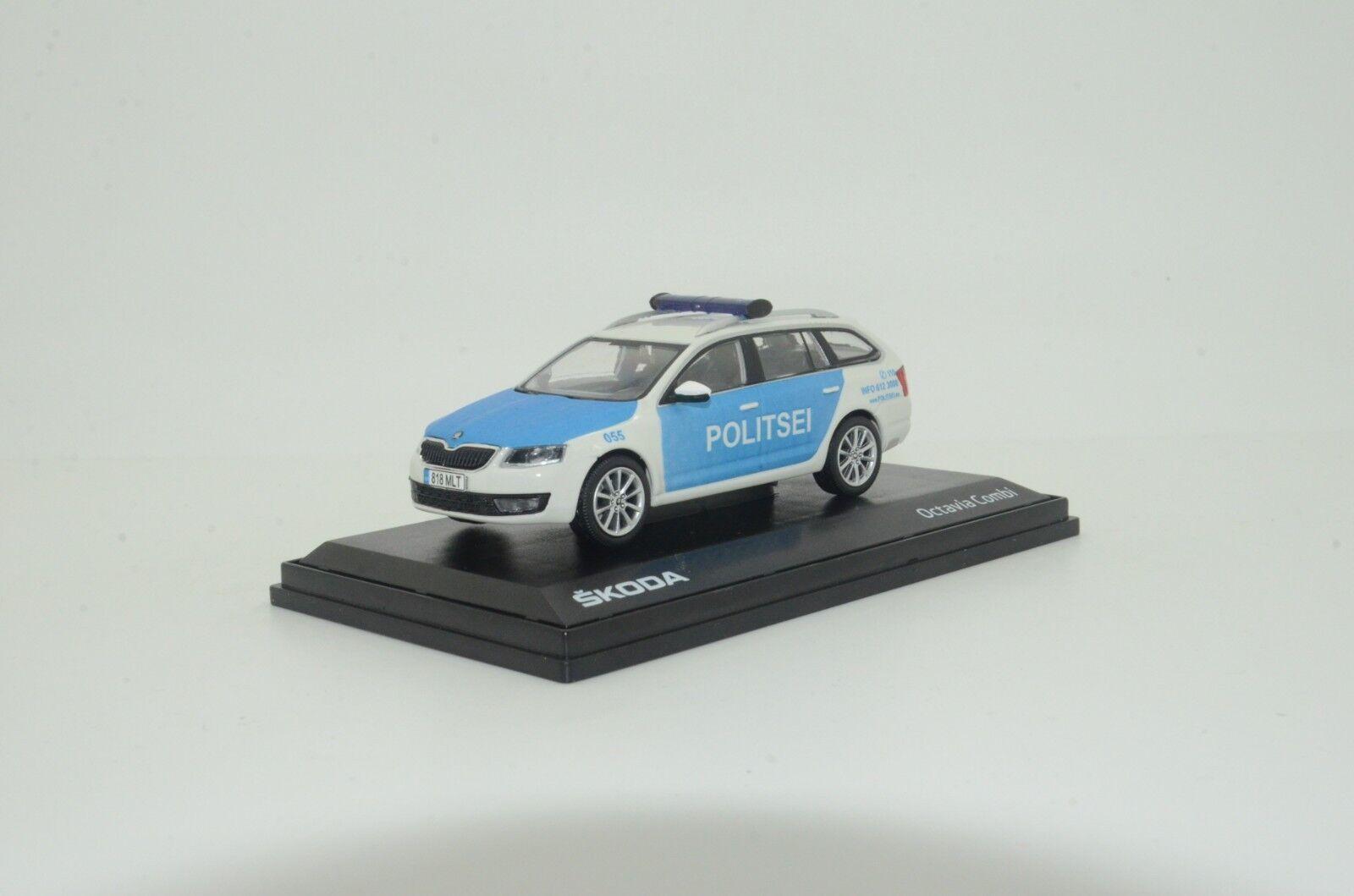 RARE     Skoda Octavia III Combi Estonia Politsei Police Custom Made 1 43