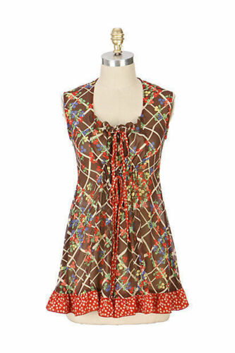 """Anthropologie Silk """"Farm Stand Tunic"""" Blouse Top"""