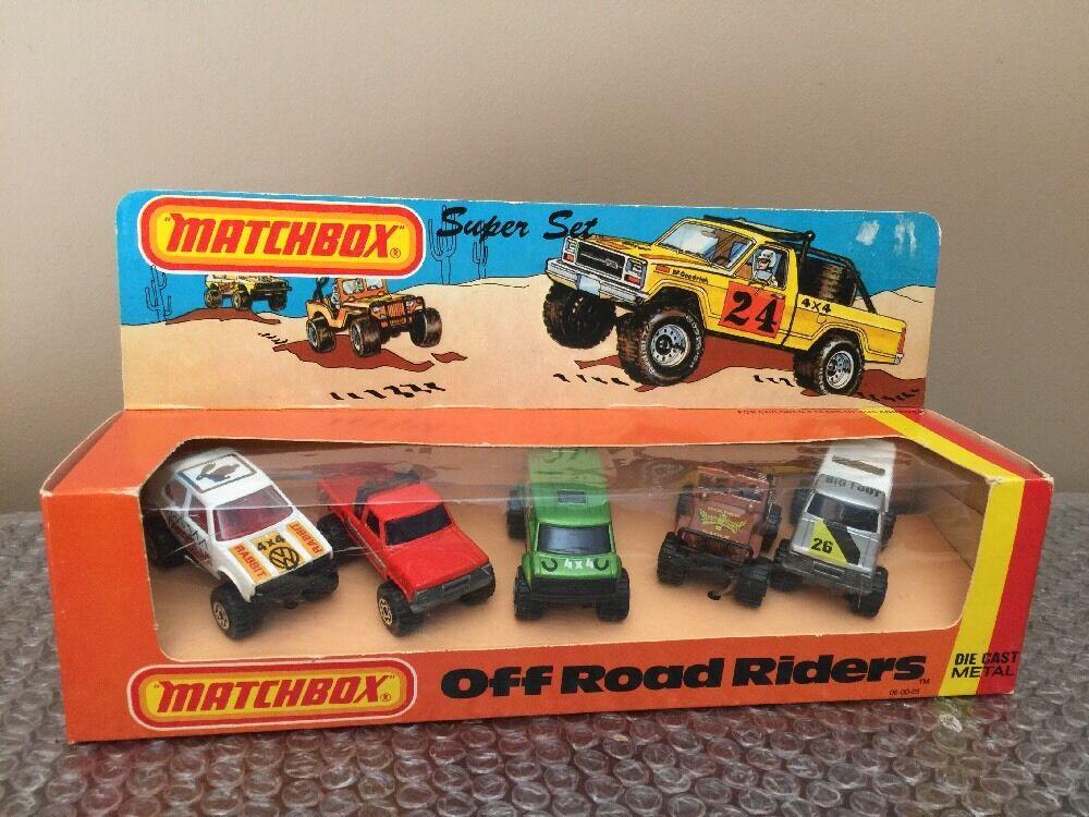 1982 MATCHBOX SUPERFAST SUPER SET Off Road Riders LESNEY Neuf Ensemble eau USA