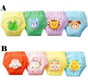 USA 4Pcs Baby Toddler Boy Girl 4 Layers Waterproof Potty Training Pants Reusable