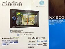 """NEW Clarion NX603 2-Din DVD Receiver w/ GPS, Bluetooth and 6.2"""" Touchscreen"""