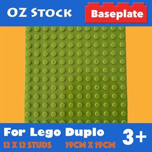 BASE-PLATE-12x12-STUDS-COMPATIBLE-FOR-LEGO-DUPLO-BIG-BRICKS-BASEPLATE-APPLEGREEN
