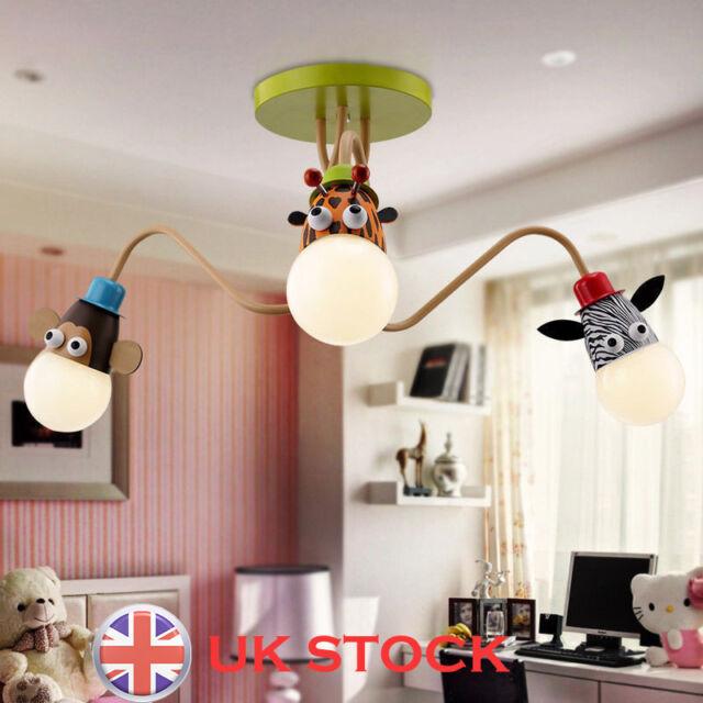 Cartoon Animal Model Ceiling Lamp Pendant Light Kid Room Cute Chandelier New